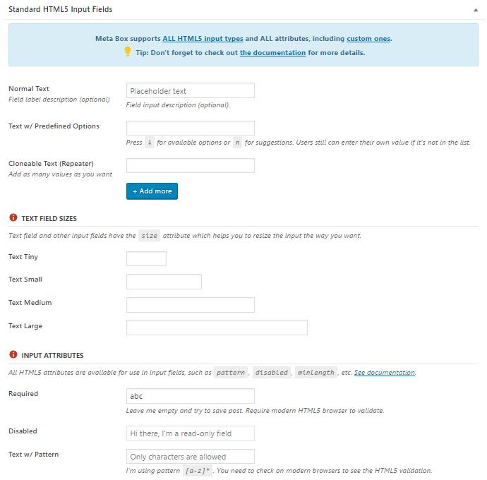 customizable meta box plugin