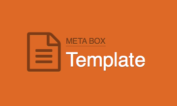 Meta Box Template