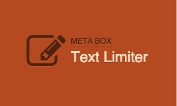 Meta Box Text Limiter