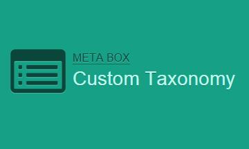MB Custom Taxonomy