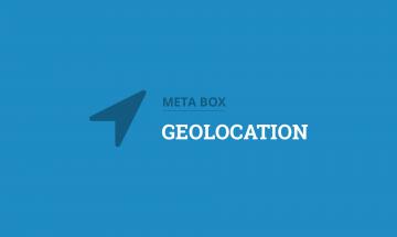 geolocation for custom fields in WordPress