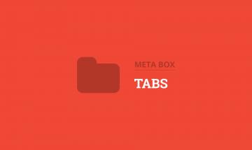 organize wordpress custom fields in tabs